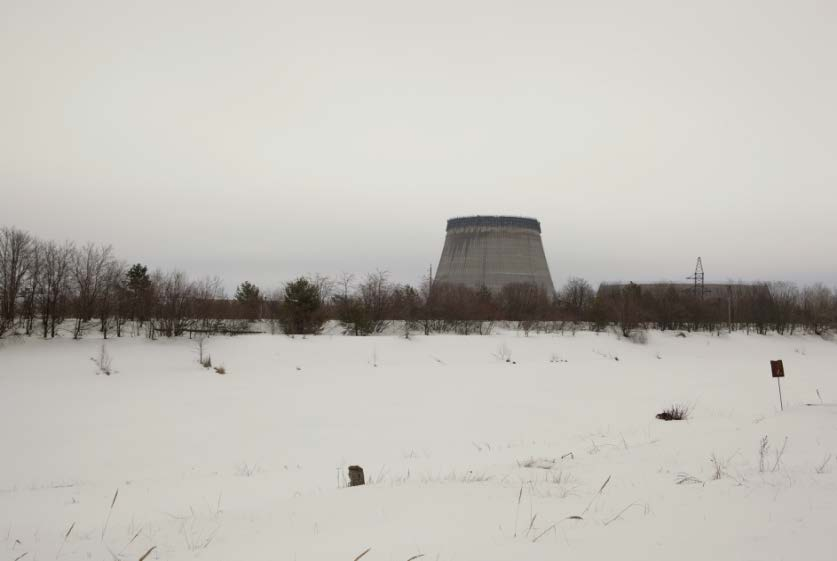 Unfinished cooling towers